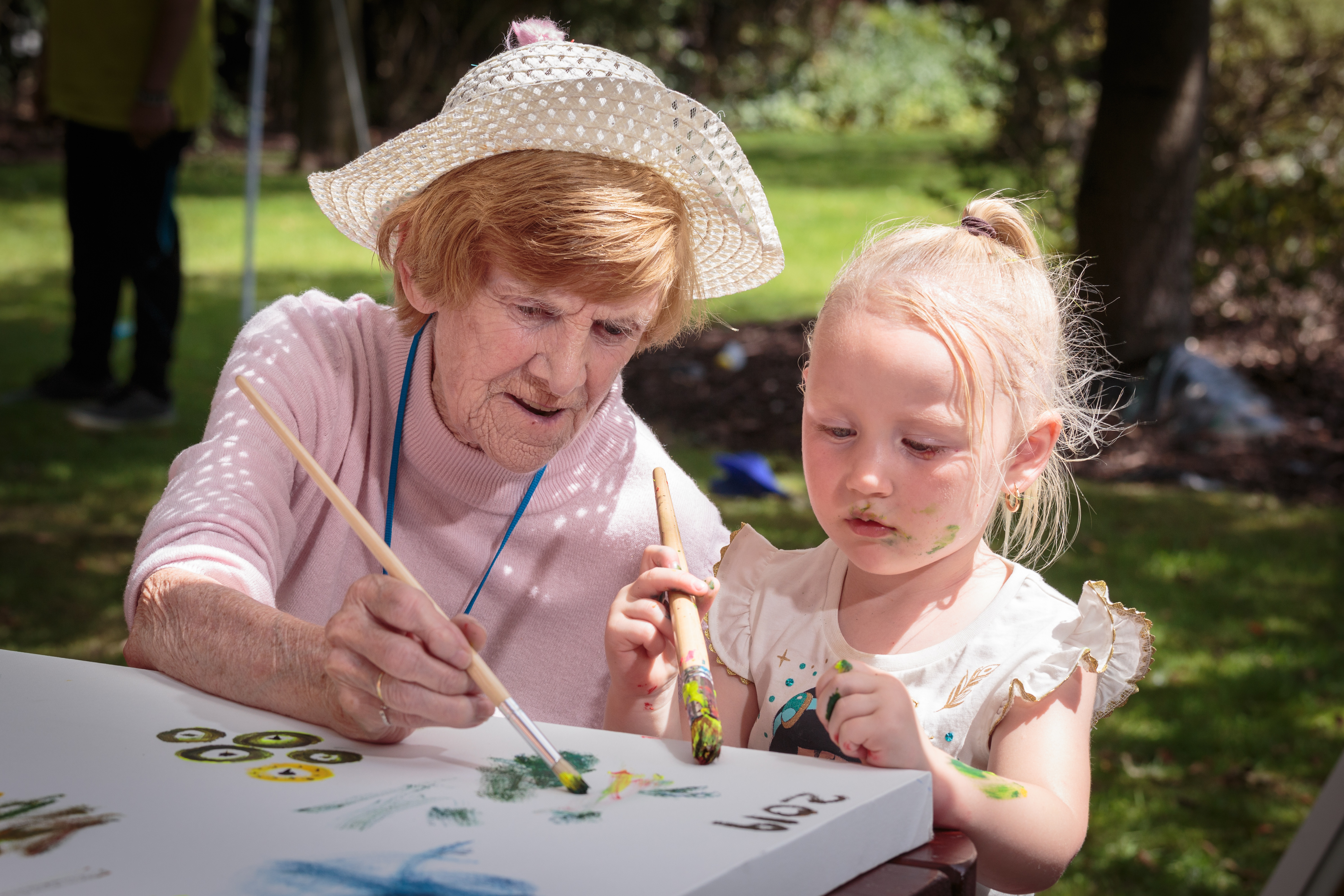 Painting with child