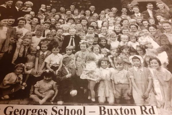 VE Day Street Party 75 yrs ago SHeila Hammond as a child